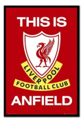 Liverpool FC Poster This Is Anfield Black Framed & Satin Matt Laminated - 96.5 x 66 cms