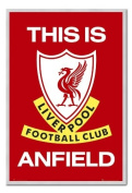Liverpool FC Poster This Is Anfield Silver Framed & Satin Matt Laminated - 96.5 x 66 cms