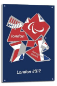 London 2012 Paralympics Union Jack Poster Float Mounted - 90 x 60cms