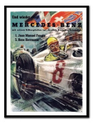 Mercedes Benz Racing Print Black Framed - 41 x 31 cms
