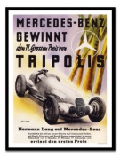 Mercedes Benz Tripolis Racing Print Black Framed - 41 x 31 cms