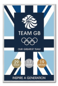 Team GB Our Greatest Team Medal Count Poster Silver Framed & Satin Matt Laminated - 96.5 x 66 cms