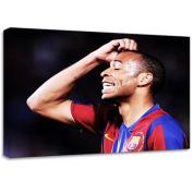 Thierry Henry Barcelona Football Modern Canvas Art Print Poster