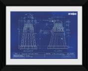 Doctor Who Dalek Blueprint Framed Photographic Print
