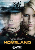 Homeland Photo Poster Signed PP Damian Lewis Claire Danes Mandy Patinkin Brody Carrie A4 21cm x 29.7cm Print