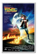 Back to the Future Poster Silver Framed & Satin Matt Laminated - 96.5 x 66 cms