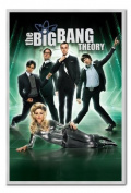 The Big Bang Theory Poster Silver Framed & Satin Matt Laminated - 96.5 x 66 cms