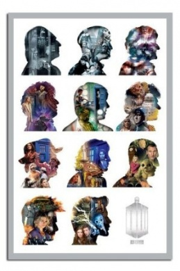 Doctor Who Doctors Silhouettes Poster - 91.5 x 61cms (36 x 24 Inches)