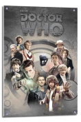 Doctor Who Doctors Through Time Poster Float Mounted - 90 x 60cms