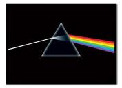 Pink Floyd Poster Dark Side of the Moon Black Framed & Satin Matt Laminated - 96.5 x 66 cms