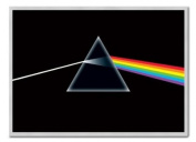 Pink Floyd Poster Dark Side of the Moon Silver Framed & Satin Matt Laminated - 96.5 x 66 cms