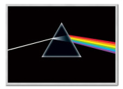 Pink Floyd Poster Dark Side of the Moon Silver Framed - 96.5 x 66 cms