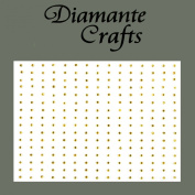 240 x 1mm Gold Diamante Self Adhesive Rhinestone Craft Embellishment Gems - created exclusively for Diamante Crafts