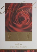 Bargain Giftz - Husband With Love On Our Ruby Wedding Anniversary Card with Cream Envelope