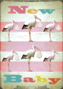 New Baby Storks Greeting Card by Max Hernn