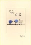 Penny Lindop Designs - Handmade Card - Birds For Baby Boy