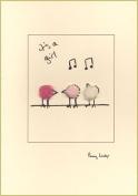 Penny Lindop Designs - Handmade Card - Birds For Baby Girl