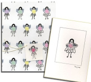 Penny Lindop Designs - New Baby Girl Collection - Handmade Fairy Card With Tag And Fairy Gift Wrap