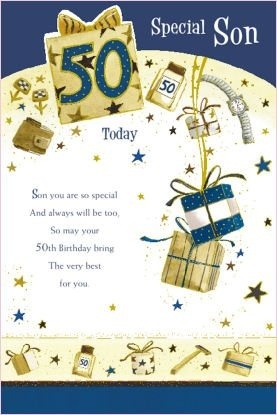 Son 50th Birthday Card By Grass Roots