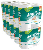 Angel Soft Toilet Paper, White, 4 Double Rolls