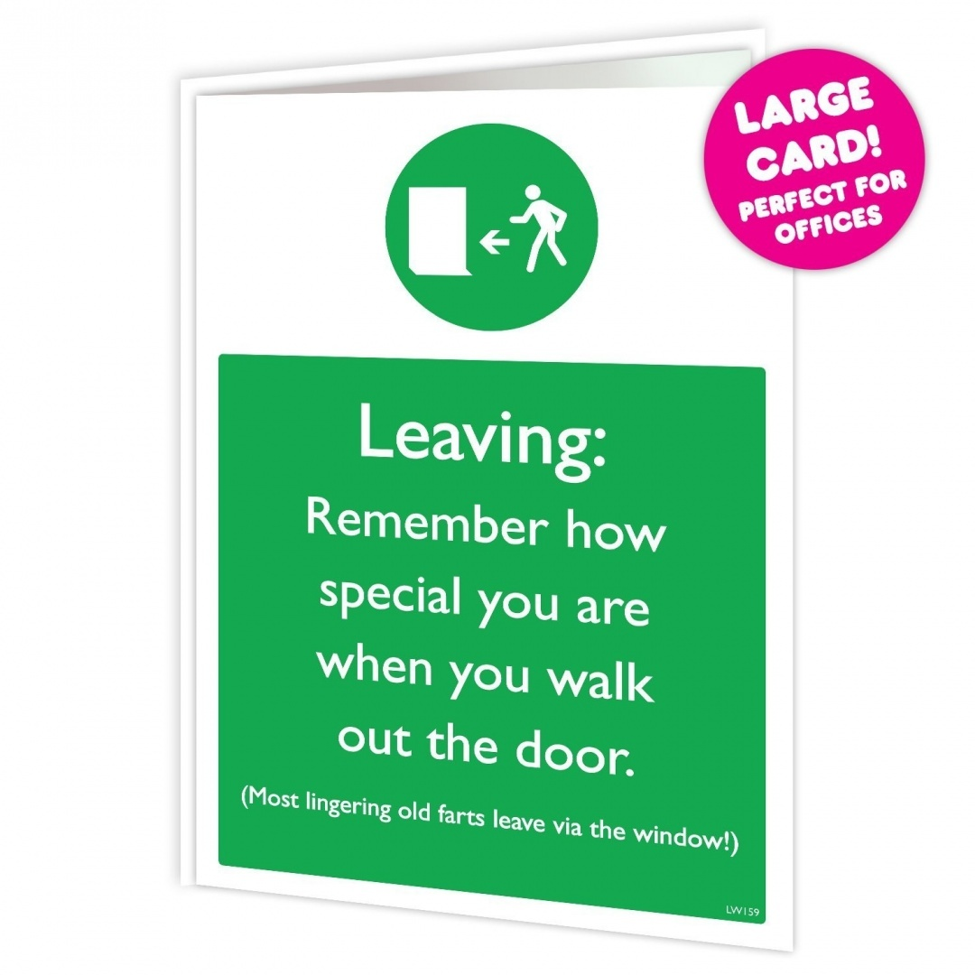 Leaving Old Fart Large Greeting Card By Brainbox Candy