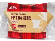 Brown entered 100 pieces of KALITA coffee filter 104 filter paper