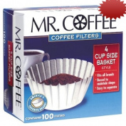 Mr. Coffee Basket Coffee filters , 4 Cup, White Paper, 100-Count Boxes