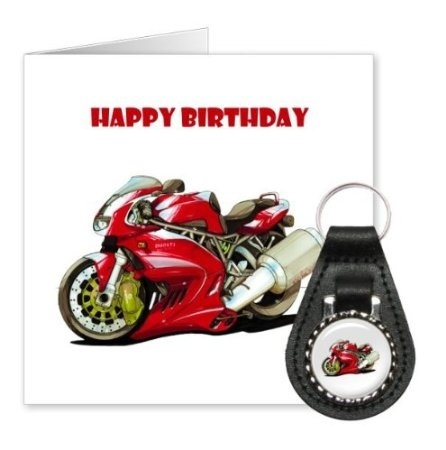 Official Koolart Ducati Supersport Red Fun Motorcycle Birthday