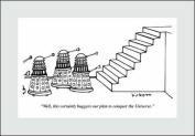 Woodmansterne Punch Blank / Birthday Greeting Card - Daleks & Stairs