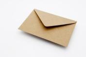 500 x C6 Plain Ribbed Recycled Kraft Card Envelopes Natural Brown