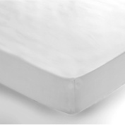 Luxury Non Iron Polycotton Percale Double Fitted Sheet in White