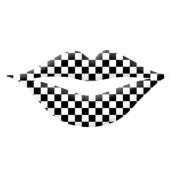 Trendy Black/White Chequered Print Lip Wraps