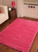 BRIGHT PINK SUPER SOFT LUXURY SHAGGY RUG 5 SIZES AVAILABLE 60cmx110cm