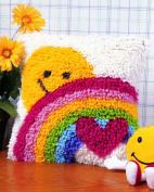 Caron WonderArt Latch Hook Rug Kit - Sunshine Rainbow