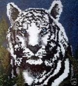 "Wonderart Latch Hook Kit 60cm X34""-White Tiger"