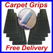 Pack Of 12 Stay In Place Rug To Carpet Mat Grips Grippers Fixer