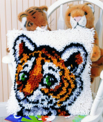 Caron WonderArt Latch Hook Rug Kit - Tiger Cub