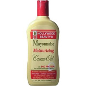 HOLLYWOOD BEAUTY Mayonnaise Moisturising Creme Oil with Egg Protein for Ends that Bend not Break 12oz/355ml