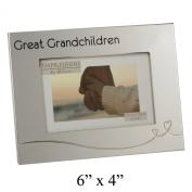 Great Grandchildren Two Tone Silverplated 10cm x 15cm Photo Frame FS1005GGCN