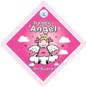 Daddy's Angel On Board, Daddy's little angel on board, Angel on board Sign, Baby On Board Sign, Daddy's Angel Car Sign, baby on board, decal, bumper sticker, baby sign, baby car sign, Paternity, maternity, Baby Car Sign, Baby Shower