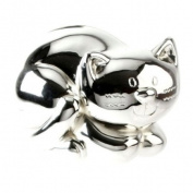 Silverplated Money Box - Cat