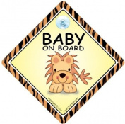Baby On Board Sign, LION, Baby on Board Car Sign, Baby on Board, Baby Car Sign, Baby Sign, Bumper Sticker, Decal, Grandchild On Board