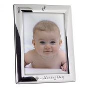Silver Plated Engraved On Your Naming Day Photo Frame 7 x 5