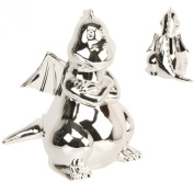 Juliana Silverplated Money Box - Dragon with Wings