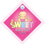 Sweet Baby Girl On Board, Car Sign, Baby on Board Sign, Baby On Board, Baby Sign, Baby Car Sign, Bumper Sticker, Baby Girl Car Sign, Grandchild On Board