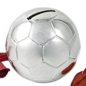 Silver Plated Football Money Box
