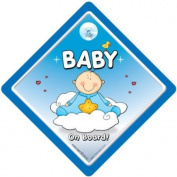 Baby On Board Car Sign, Blue Cloud, Baby On Board, Baby On Board Sign, Baby Car Sign, Decal, Bumper Sticker, Car Sticker, Grandchild On Board, Grandson On Board, Baby Boy, New Baby