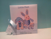 Little Feet Boys Blue Photo Album With Ribbon - Part of A Great Range Of Nursery Gifts