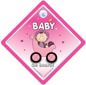 Baby on Board Sign, Baby on Board Car Sign, Pink Buggy 3, Baby on Board, Baby Sign, Baby Car Sign, Decal, Bumper Sticker, Baby Car Sign