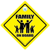 Family On Board Car Sign, Family On Board Sign, Family Car Sign, Baby on Board, Decal, Bumper Sticker, Baby Sign, Baby Car Sign, Baby on Board Sign Style